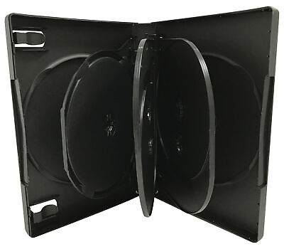 Black 7 Disc DVD Cases /w Patented M-Lock Hub
