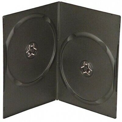 SLIM Black Double DVD Cases 7MM