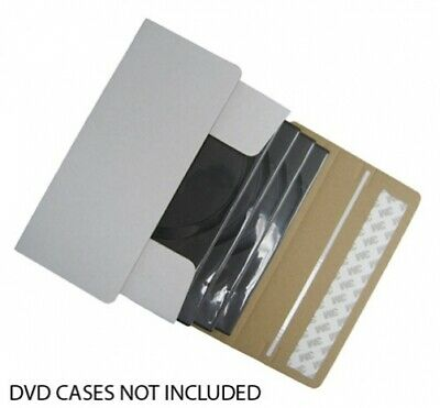 DVD Cardboard Box Self Seal Mailers (Ship 1-4 DVDs in DVD Cases)