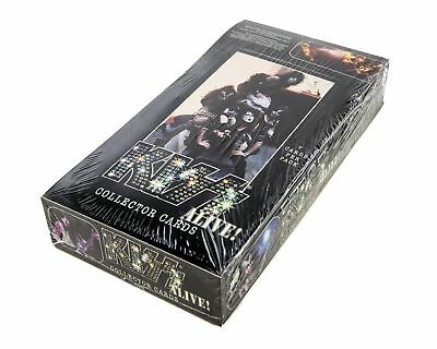 kiss alive factory sealed trading cards box 36 packets per box