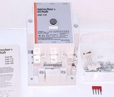 Sprecher+Schuh CA6-110-11  Electrical Contactor 75kW  240/277V Coil *NEW in BOX*