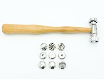 Texturing Hammer 9 Different Textured Patterns Forming Jewellery Making