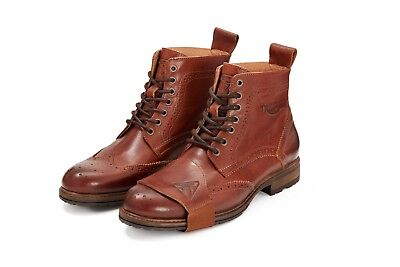 GENUINE Triumph Hardwick Brogue Brown Leather Cruiser/Classic Motorcycle Boot