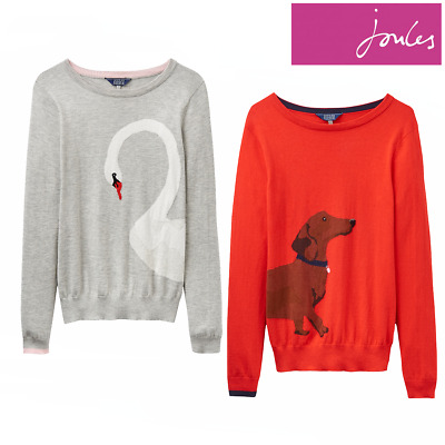Joules 208683 Intarsia Jumper-Pink Star