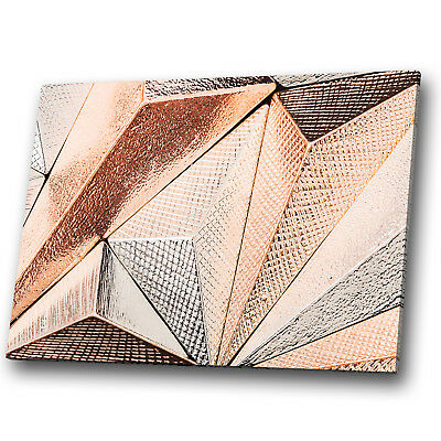 Abstract Rose Gold Modern Cool Canvas Poster Wall Art Print Picture Framed AP039