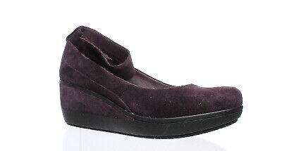 f72d71e188d CLARKS WYNNMERE FOX Suede Ankle Strap Wedge Pumps