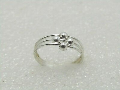 Jewellery & Watches A01 Ring Sterling Silver 925 With Ball Adjustable Size