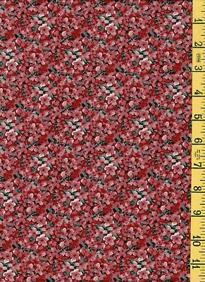 2yd Cotton Quilt Sew Fabric Northcott Rose Cottage Tiny Floral 2068