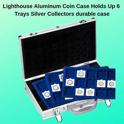 #168SP Compact Aluminum Coin Carrying Case with Choice of 6 Trays