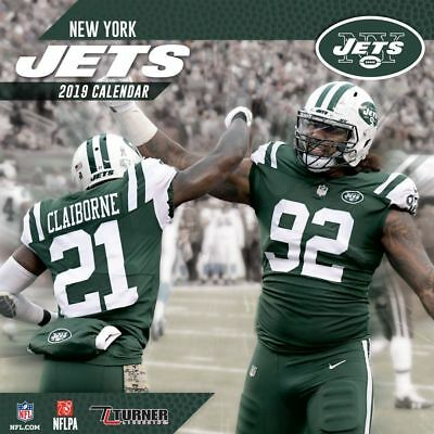 67cb11d7838 2019 NFL NEW York Jets Mini Calendar