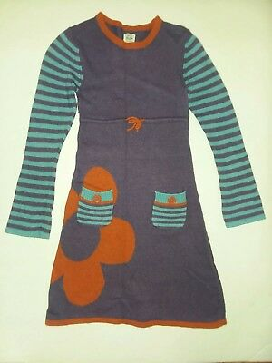 Mini Boden Purple Blue Orange Cashmere Blend Sweater Dress Sz 11 12 Youth Girls