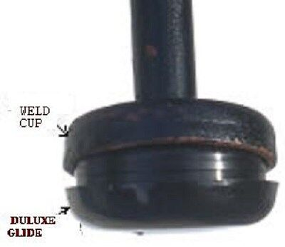 """18 BLACK DELUXE INSERT CUP 1-1/2"""" FOR WROUGHT IRON  measure inside of weld cup"""
