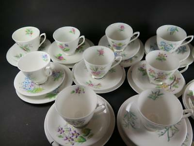 VINTAGE Royal Albert TRIO FLOWER of the MONTH 1950s 1st Issue SELECTION CHOOSE