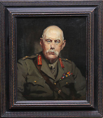 Alice Mary Burton Military Soldier Portrait 1930's Oil Painting Art 1893-1968