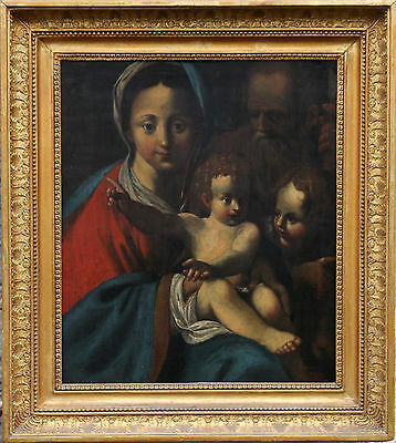 Old Master Italian Dutch Art 17Th C Oil Painting Schedoni Rubens Holy Family