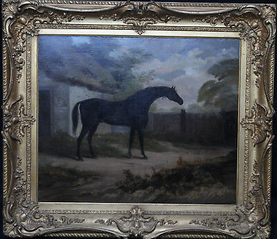 JOHN BOULTBEE  BRITISH OLD MASTER HORSE OIL PAINTING ART 18th CENTURY 1752-1812