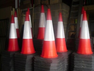 Traffic Cones STARLITE melba swintex NEW 1000mm 1M CLASS 1 (£7.00-£8.00) 2 PIECE