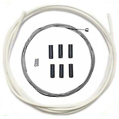 Jagwire Stainless Steel inner Gear Cable Lined White Outer Ferrules MTB Bike 2M