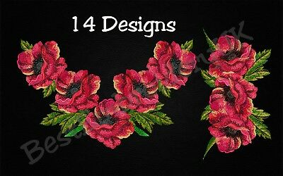 MACHINE EMBROIDERY DESIGNS - POPPY EMBROIDERY - DRESS Embroidery - Handbag