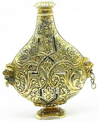 Fabulous 16th century Tudor Courtly Silver-Gilt Casting Bottle / Perfume Fask