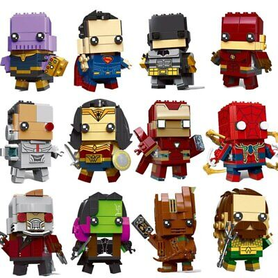 Brickheadz LEGO Batman Captain America Robin Iron Man Wonder Woman Flash