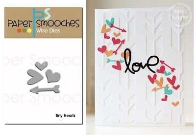 Paper Smooches Wise Dies - Tiny Hearts, Love, Arrow, Wedding, Valentine's Day