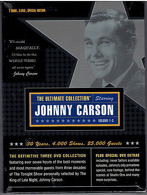 Johnny Carson: The Ultimate Collection DVD 2003, 3-Disc Set NEW SEALED FREE SHIP