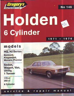 Holden Hq Hj 6 Cyl  Workshop Service Repair Manual  1971-76