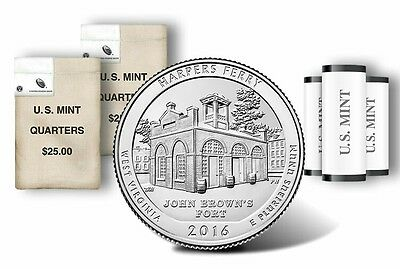 2016 D Harpers Ferry American the Beautiful National Park Quarter Coin. Mint