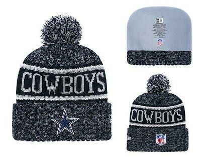 8a050bff76f48 Dallas Cowboys Beanie Cap Hat Nfl Football One Size New Era Cuffed Knit On  Field