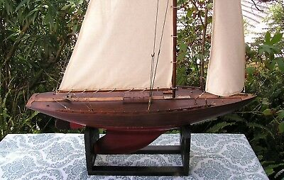 FINE ORIGINAL 1930'S Fully Rigged Pond yacht