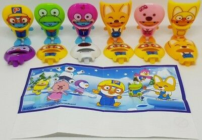 Kinder 2018, Pororo, China, compl. set with all Bpz