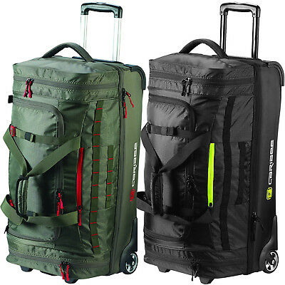 Caribee Scarecrow Unisex DX 70L Wheeled Zip Travel Trolley Suitcase Holdall Bag