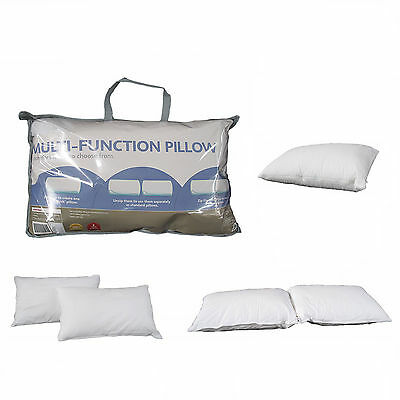Fully Convertible Multi-Function Standard Pillow - Firm -> Low -> Body Pillow