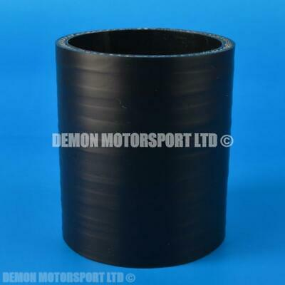 Silicone Hose Straight Coupler Vintage SELECT SIZE Demon Motorsport (Black Core)