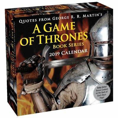 2019 Game of Thrones Book Quotes Desk Calendar, Drama TV by Andrews McMeel Publi