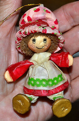 Cute Vintage Strawberry Shortcake Paper Mache Christmas Tree Ornament
