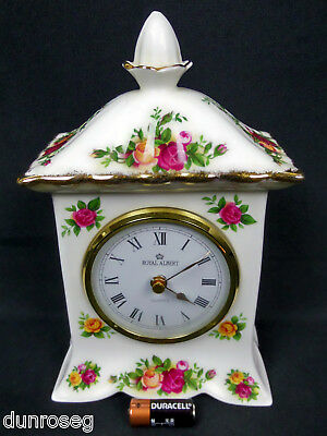 Old Country Roses Working Carriage / Mantel Clock, Vgc, 1993-2002, Royal Albert