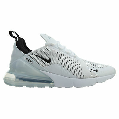 newest 2af10 ee266 NIKE AIR MAX 270 Mens AH8050-100 White Black Mesh Running Shoes Size 12