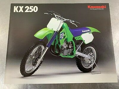 Kawasaki KX250 1988 Brochure Dealer Sales Literature 88 KX 250 KX250-F1