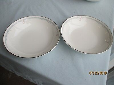 "2 x Royal Doulton ""Carnation"" Pudding/Cereal/Soup Bowls"