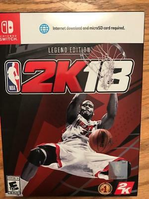 NINTENDO SWITCH NBA 2K18: Legend Edition SHAQ BRAND NEW FACTORY SEALED