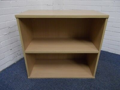 Dark Beech Two Shelf Bookcase