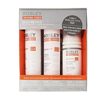 Bosley Revive Starter Pack for Visibly Thinning / Color-Treated Hair 3pc