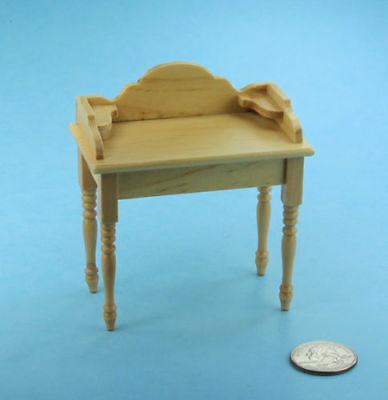 VERY NICE Dollhouse Miniature Oak Wash Stand/Vanity/Desk 1/12 Scale NEW #S2738