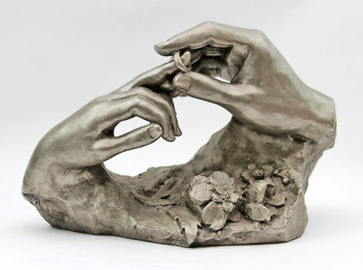 """Vintage 1980 Austin Wedding Hands """"The Ring"""" Art Sculpture by David Fisher A3"""