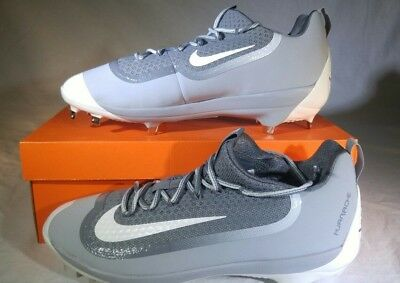 e9985d3d7589 Nike Air Huarache 2K Filth Elite Low Metal Baseball Cleats 807129-011 Grey  White