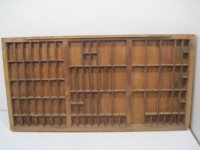 C7 Old Printers Tray Ink Drawer Wood-Wooden Shadow Box Nick Knack Shelf