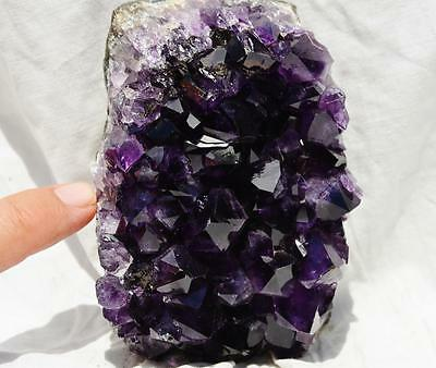 """8381 Purple Amethyst Geode Cluster Cathedral URUGUAY Free Standing 119mm 4.6"""""""