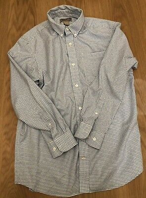 54b60d77faa Duluth Trading Co Wrinkle Fighter Shirt Long Sleeve Blue Check Mens Medium  EUC